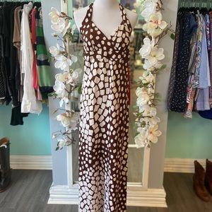 DVF silk maxi dress size 8 (fits small)